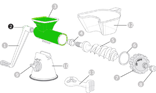 גוף יחידת סחיטה Healthy Juicer